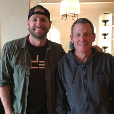 """(L-R) Chase Rice and Lance Armstrong on """"The Forward"""" Podcast"""